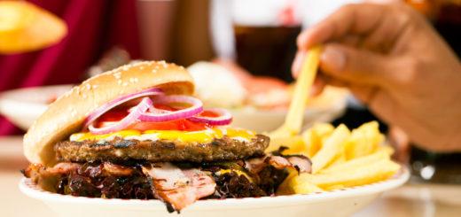 french fries and hamburger