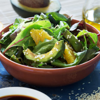 sesame seed oil on salad