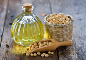 soy beans and oil